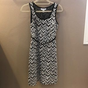 Black and white maternity business casual dress